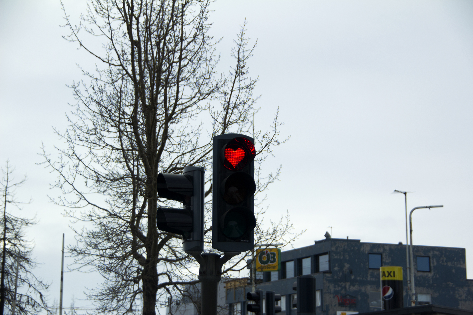 Red light in Akureyri